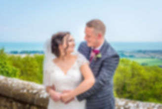 Bride and Groom Wedding Photography Lympne Castle Kent