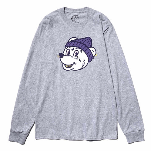 Breakout Bear Long Sleeve T-Shirt - Grey