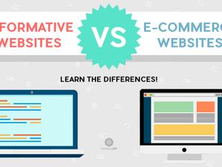 INFORMATIVE WEBSITES VS E-COMMERCE WEBSITES