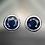Thumbnail: EST21-1  עגילי ספיר אמיתי מכסף 925 מצופה זהב 14 קרט