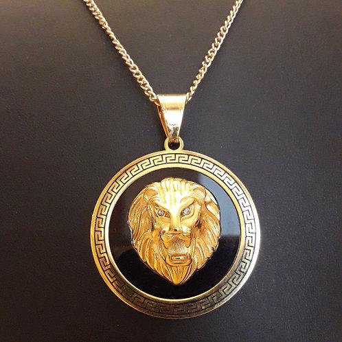 שרשרת ואומגה אריה-סגנון ורסצ'ה, צבע זהב