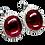 Thumbnail: ERCB2 - עגילי רובי אמיתי מכסף 925 מצופה זהב 14 קרט