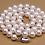 """Thumbnail: שרשרת פנינים אמיתיות לבנות 7-7.5 מ""""מ"""