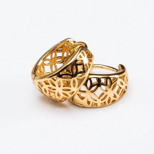 0851- עגילי חישוק גולדפילד זהב צהוב
