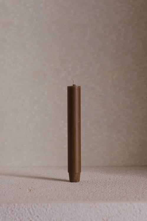 ŚWIECA STOŁOWA BRĄZ 18,5cm