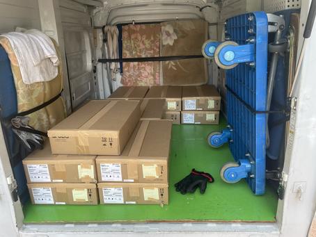東京の赤帽 品川区大崎→経済産業省へ通信機器の配送です。