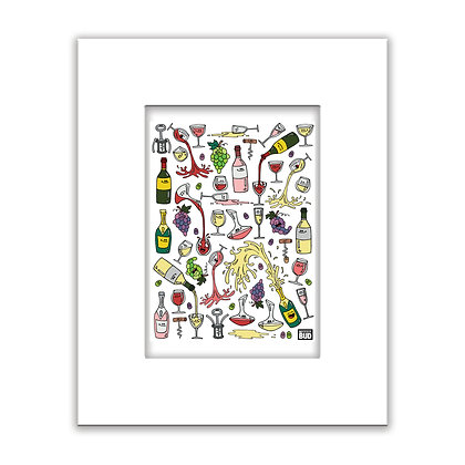 Color Print | Wine Party
