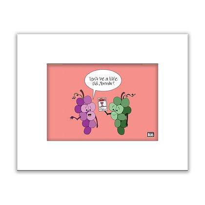 Framed Color Print | Grapes
