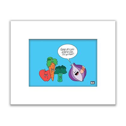 Framed Color Print | Veggies