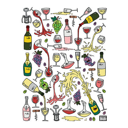 Framed Poster | Wine Party