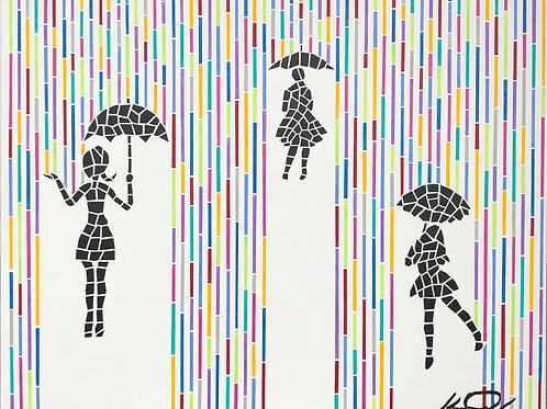 Women in the Rain