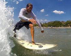 Jason gamble surfing pico pequeno fishing tour captain in tamarindo costa rica