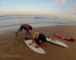 dawn patrol surf lesson with pedro cruz and chris daly in langosta beach costa rica