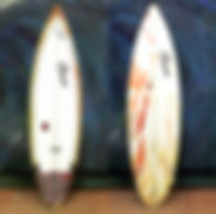 shortboard from youtube video orange resin tint Custom monkey wrench surfboard from pedro's surf shop and school in tamarindo costa rica