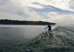 Pedro cruz surfing marbella costa rica going frontside