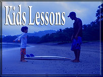 kids surf lesson button pedro cruz