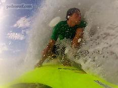 Richard Lyons doing a backside barrel in tamarindo costa rica