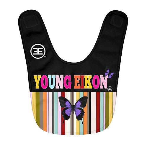 Young Eikon - Colorful Striped -Fleece Baby Bib