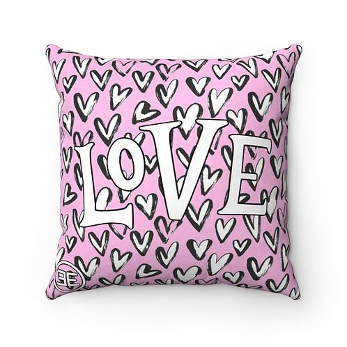 Love Hearts 18x18 Square Pillow - YOUNG EIKON