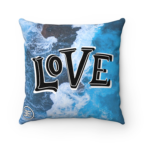A Love Wave 18x18 Square Pillow
