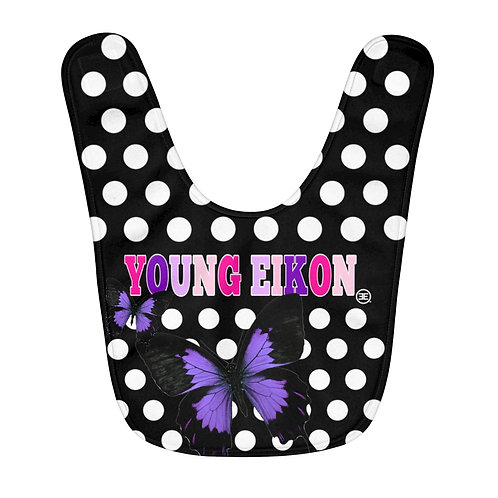 Young Eikon - Polka Dot - Fleece Baby Bib