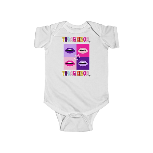 YOUNG EIKON Infant Onesie - Short Sleeve Bodysuit - Colorful