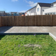 Composite decking with hot tub in Bishopton