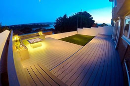 multilevel deck with lighting