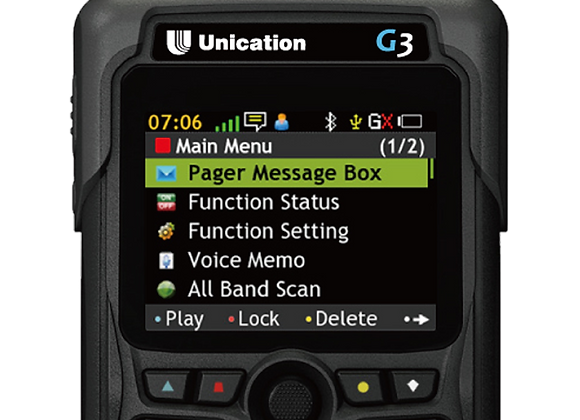G3 Dual Band P25 Voice Pager