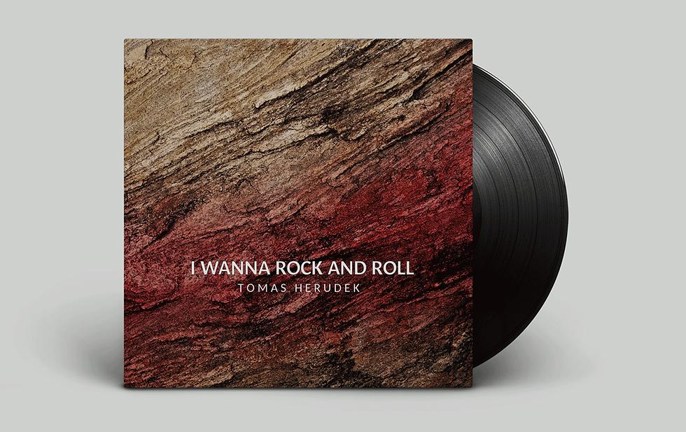 Grafický návrh bookletu I wanna rock and roll