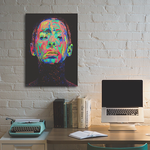 Print 1 - Projeto Neon de Hid Saib (S/ MOLDURA) | BRINDE: 1 MÁSCARA PROJETO NEON