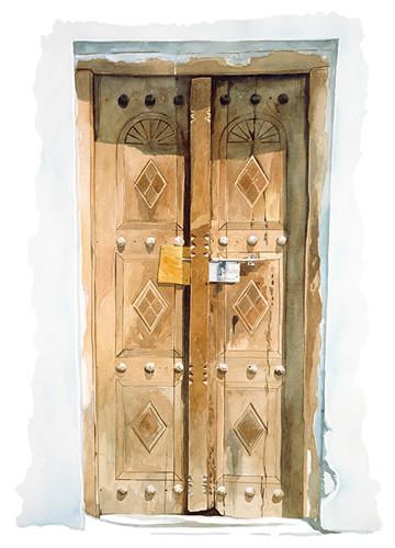 Sepia Gulf Door