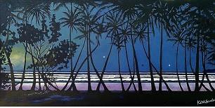 'Evening Horizon'   122cms x 61cms Acrylic on canvas.JPG