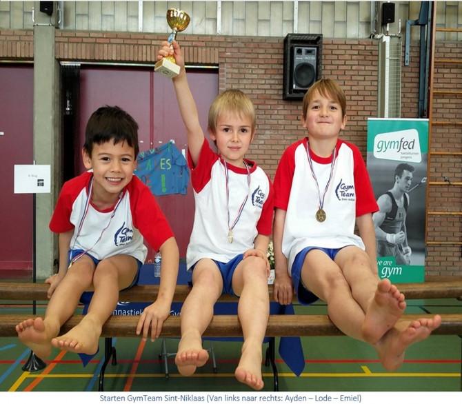 Knappe prestatie voor onze jongste gymnasten