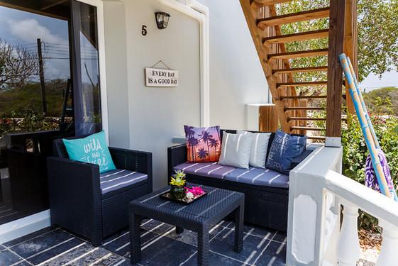 Private entrance & terrace