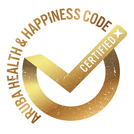 Aruba Health & Happiness Code; gold seal