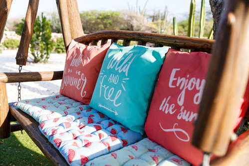 Enjoy the swing in the garden