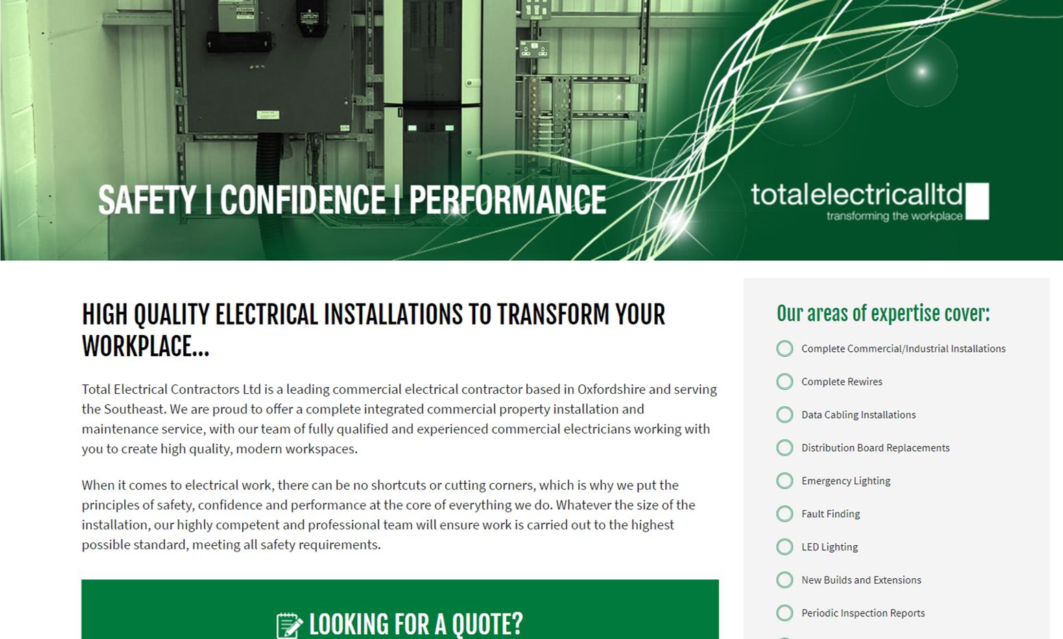 Total Electric Ltd Website Design