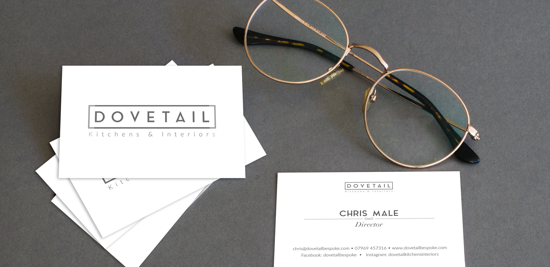 Dovetail Kitchens & Interiors Business Cards