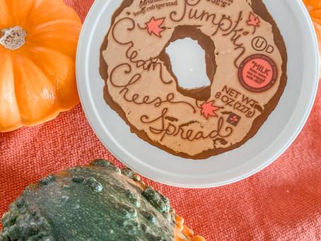 Trader Joe's Pumpkin Bagel & Pumpkin Cream Cheese Review