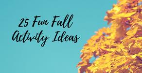 25 Fun Fall Activity Ideas