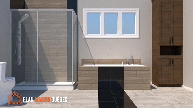 Plan Maison Québec - Perspective 3D - Québec