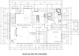 Exemple de plan de construction / plan du rez-de-chaussé