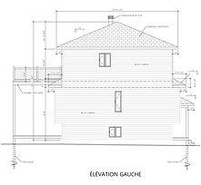 Exemple de plan de construction - Élévation gauche