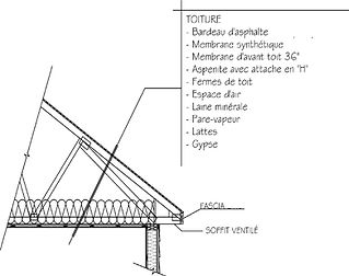 Exemple de plan de construction / Toiture