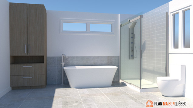 Plan construction maison - Salle de bain