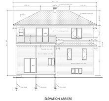 Exemple de plan de construction - Élévation arrière