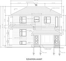 Exemple de plan de construction - élévation avant