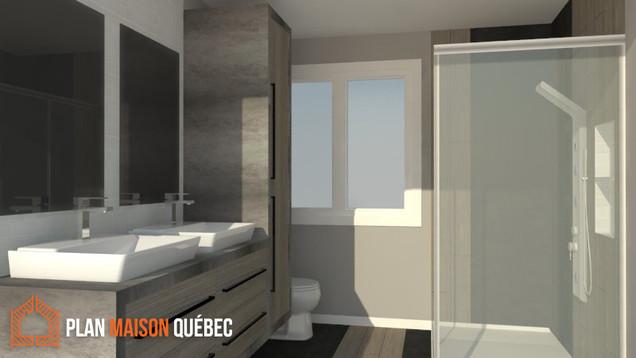Plan Maison Québec -Plan de construction - Salle de bain - Québec