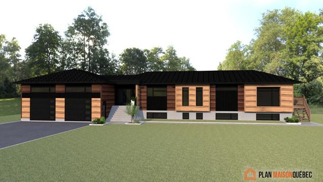 3D revêtement extérieur - Plan Maison Qu